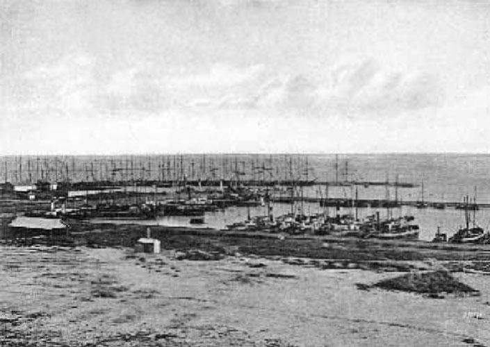 Таганрогъ. Гавань. Почтовая карточка конца XIX века