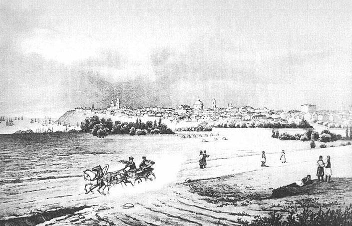 Вид Таганрога. Гравюра 1870-х годов